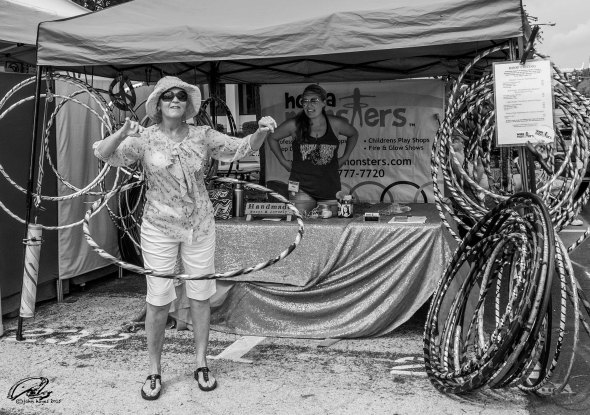 hula hoop lady